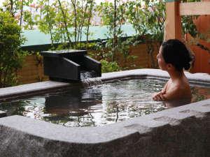 天然温泉給湯【天然岩】露天風呂