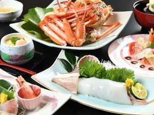 日本海の新鮮な白いか(半身)と紅ズワイガニ♪紅白の美味を堪能!