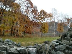 くったり湖を眺めながらの秋の露天風呂も最高です!