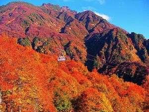 燃え上がるような赤が美しい【霊峰 八海山】
