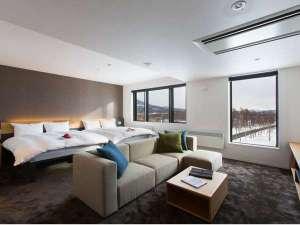 客室クィーンサイズベッド