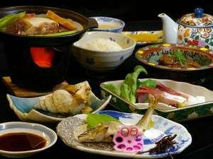 自家農園の美味しいお米や新鮮なお野菜・丹波の旬の素材を使った【日替わり和食】一例