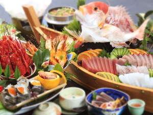 ◆皿鉢会席の一例(皿鉢/舟盛りは4名盛り)