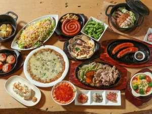 1階では北海道産の食材を利用したお料理を提供しています