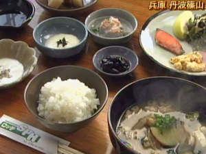 丹波篠山の食材を使った朝食