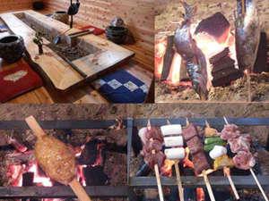 囲炉裏串焼き