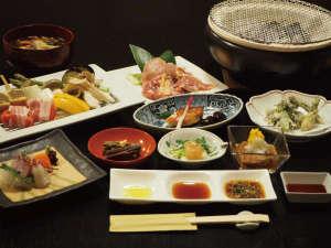 炭焼きで味わう会津地鶏と旬の味覚「会津地鶏の炭焼き会席」(イメージ)