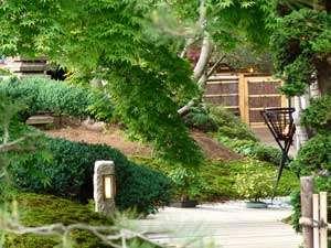 手入れがなされたエントランスのお庭。入り口のお堀には錦鯉が優雅に泳いでます。