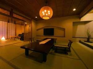 【特別室・三間続き・和室ツイン】三世代やグループ旅行にお薦めな、空間を贅沢に使ったお部屋。一例