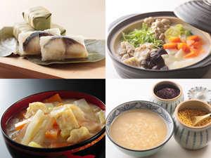 朝食バイキングには、興福寺粕汁や柿の葉寿司など奈良名物もご用意!