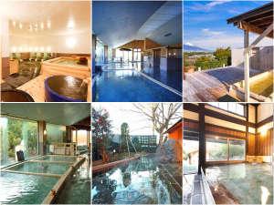 宿泊施設によって異なる温泉施設