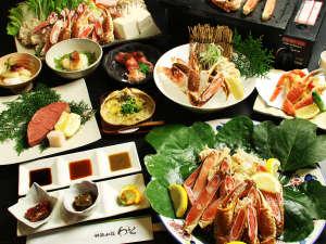 当館一番人気!厳選した蟹のカニフルコース♪様々な調理法で異なる蟹の旨みを是非・・・♪