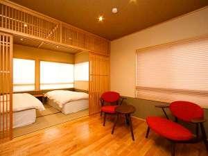 ■リニューアル和洋室ふよう■ツイン+リビング シャワーブース付☆2018年12月に改装した新客室です。