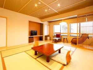 ■リニューアル和室広々14畳■シャワー&マッサージチェア付☆和の美意識を大切にした落ち着きある空間に…