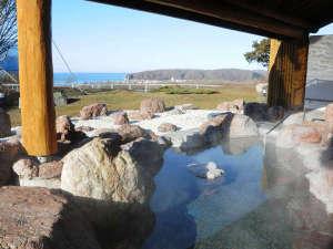 ■新冠温泉 露天風呂からの眺望♪