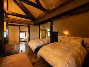 広々としたベッドルームは静かにゆったりとした時間が流れます。