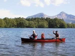 そはら湖でカヌーに釣り!