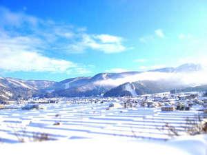 野沢温泉入り口から望むスキー場全景