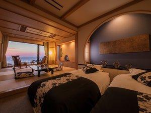 【別館・展望風呂付和洋室】和モダンが素敵な海絶景のお部屋一例