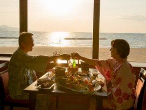 美しい海景色が見えるお食事処(窓側のお席)