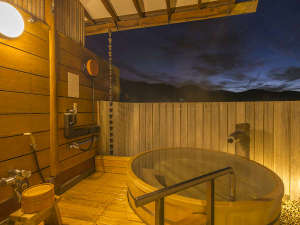 2014年11月にリニューアルの無料貸切露天風呂「月下」