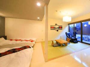 露天風呂付きの贅沢空間