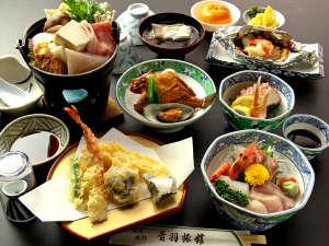 当館のスタンダードプラン一例 淡路島近海で獲れた新鮮な魚介類を存分にご堪能いただけます♪