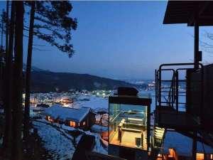 冬:夕暮れ 展望台より