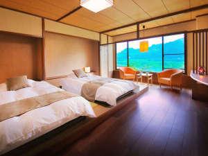 ため息をつくほどの、時間の贅沢。球磨川の畔の宿だから、お部屋は全て 【球磨川ビュー】