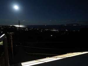 ムーンロード。ララルの露天風呂からの眺め。