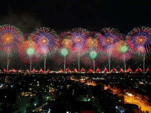 8月2・3日の長岡花火 戦争で亡くなった人の慰霊と地域復興、世界平和を願って。(徒歩25分)