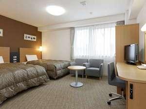 ツインスタンダード1■123cm幅ベッドのある広々したお部屋