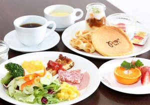 朝食は【Resort】で食べる和・洋・岡山郷土料理のバイキングスタイル!