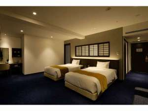 【禁煙】デラックスツインルーム(7階 夜)客室の一例写真です(写真の部屋:709号室)