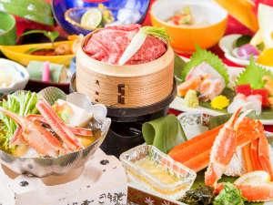 近江牛せいろ蒸しがメインの会席(冬のお料理イメージ)