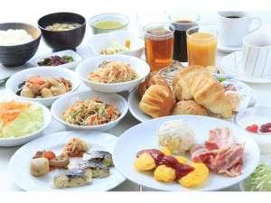 本館にて朝食バイキング