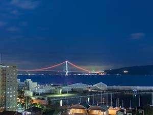 明石海峡大橋  夜