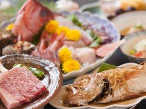 日本海の魚と島根和牛のコラボレーションです