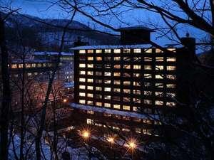 【外観】雪景色が広がる、冬の望楼NOGUCHI登別。