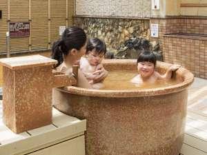 露天風呂につぼ湯が登場♪みんなで一緒に入ろうね♪