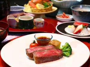 人気の岩手県産黒毛和牛ステーキは当館人気のメニュー☆
