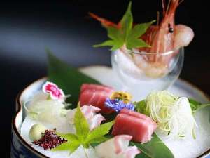 【お料理一例】美食の宿の「四季彩会席」季節の味覚を見た目も美しくお楽しみいただけます。