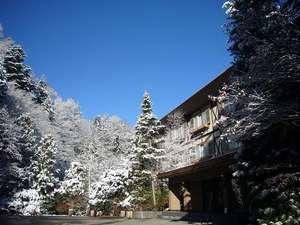 玄関雪景色