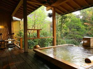 ■別邸「個止吹気亭」や離れ「ゆとろぎ亭」など趣お異なる33の温泉露天風呂付客室が自慢です。
