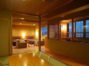 ワンランク上の展望風呂付客室(一例)。記念日などの特別な日にもご利用ください。