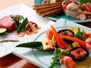 道産の旬の食材を生かしたお料理に舌鼓(写真はイメージです)。