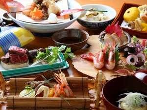 【松庵】コース一例/素材本来の味を生かした和食懐石をご用意しております。