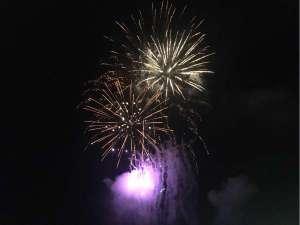 江見納涼花火大会 8/12予定 露天風呂、ベランダからご覧になれます。