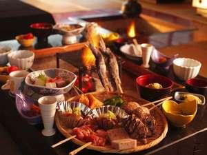 【白山いろり炭美膳】白山地物の食材をアツアツ炭火で召し上がれ♪