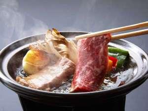 【上州牛の陶板焼】(黒毛和牛A5ランク)